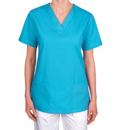 Bluza medyczna, taliowana, turkusowa JC101