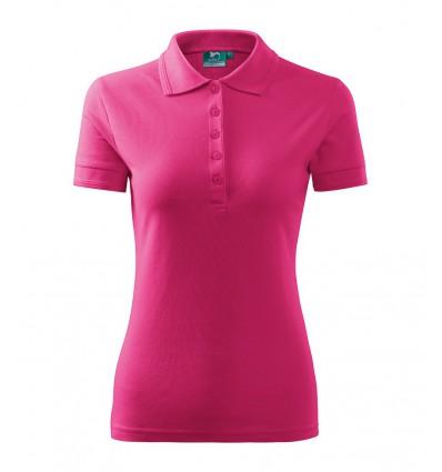 Koszulka Polo damska - czerwień purpurowa
