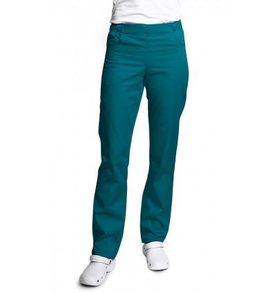 Spodnie damskie, zwężane nogawki, morski JC121