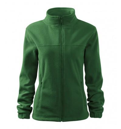 Bluza polarowa damska - ciemno zielona