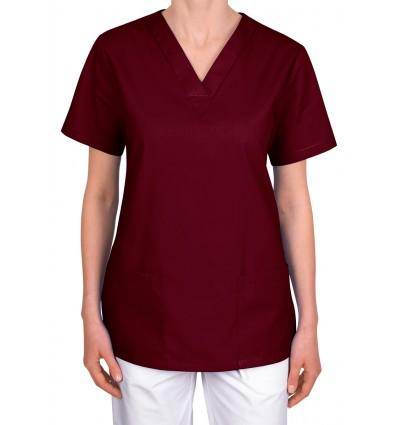 Bluza medyczna, taliowana, borodowa JC101