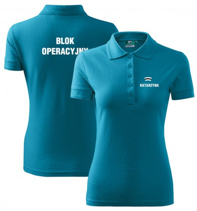 Koszulka Polo damska z nadrukiem Wzór nr 2