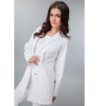 Żakiet medyczny biały, rękaw długi UN2028