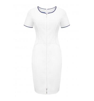 Sukienka medyczna UN2030 biała/atrament