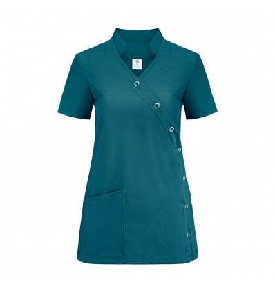 Bluza medyczna damska, zapinana na napy, ze stójką JC2020B