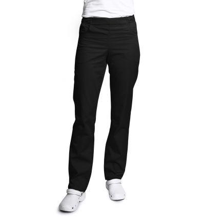 Spodnie damskie, zwężane nogawki, czarne UN121