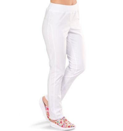 Spodnie medyczne damskie BRYCZESY białe