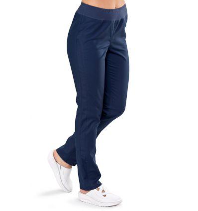 Spodnie medyczne damskie BRYCZESY atramentowe