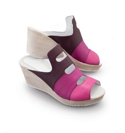 Obuwie medyczne damskie śliwka-purpura-fuksja KD 107