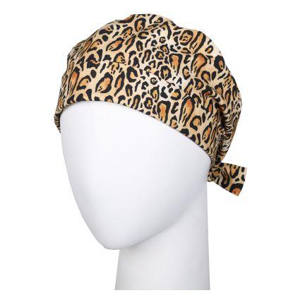 Czepek wywijany cętki leoparda
