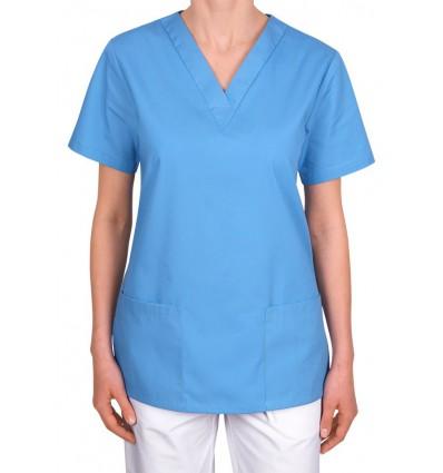 Bluza medyczna, taliowana, jasnoniebieska JC101