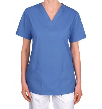 Bluza medyczna, taliowana, niebieska JC101