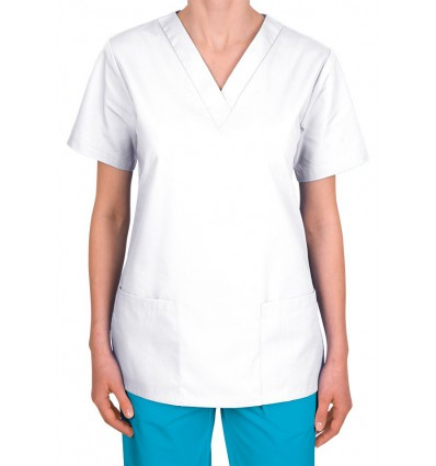 Bluza medyczna, taliowana, biała JC101