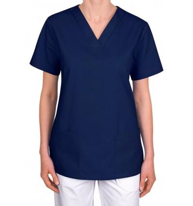 Bluza medyczna, taliowana, granatowa JC101