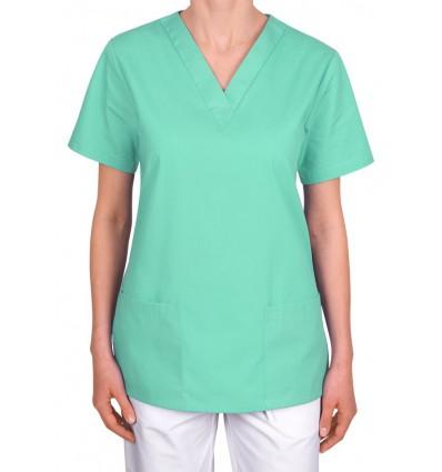 Bluza medyczna, taliowana, seledynowa JC101