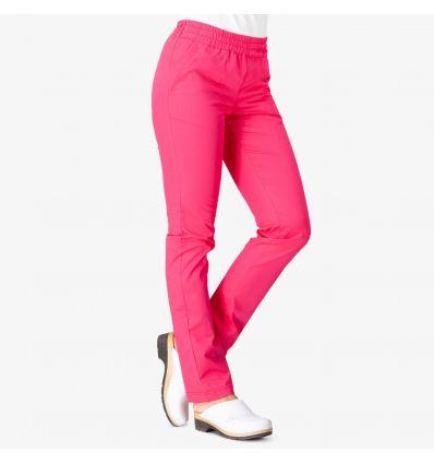 Spodnie medyczne damskie, FLEX ZONE FZ2049, róż intensywny