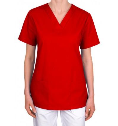 Bluza medyczna, taliowana, czerwona JC101