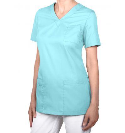 Bluza medyczna damska,klasyczna taliowana