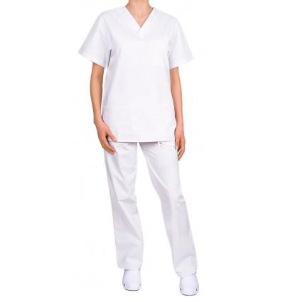 Komplet medyczny, uniwersalny, biały JC125
