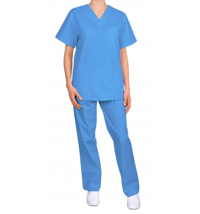 Komplet medyczny, uniwersalny, niebieski jasny JC125