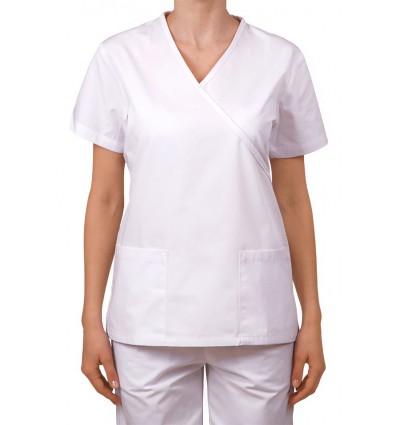 Bluza wiązana na troczki biała JC102C