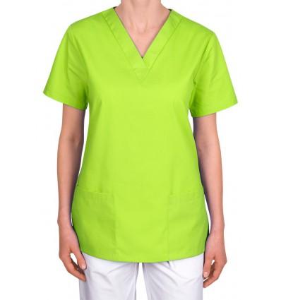 Bluza medyczna, taliowana, limonkowa JC101