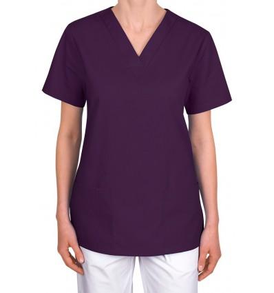 Bluza medyczna, taliowana, śliwkowa JC101