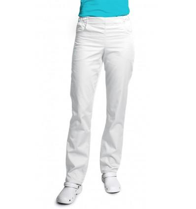 Spodnie damskie, zwężane nogawki, białe. JC121