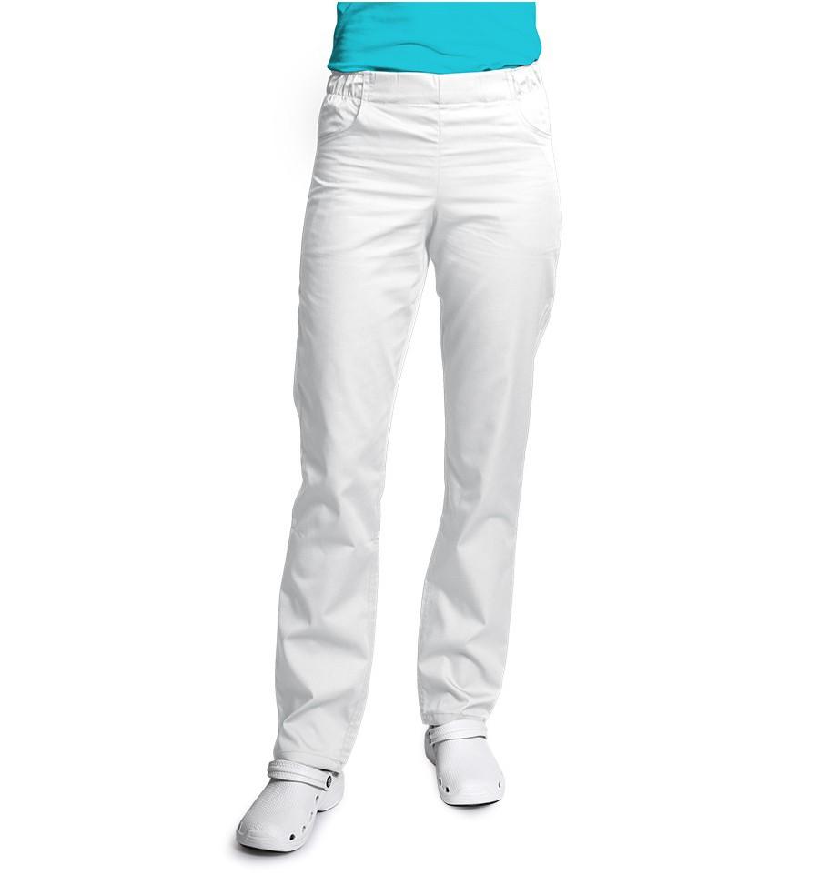 f8d32175 Spodnie damskie, zwężane nogawki, białe. UN121