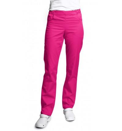 Spodnie damskie, zwężane nogawki, róż intensywny. JC121