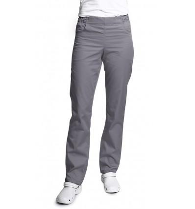 Spodnie damskie, zwężane nogawki, szare ciemne. JC121
