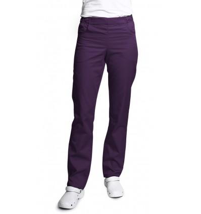 Spodnie damskie, zwężane nogawki,śliwkowe. JC121