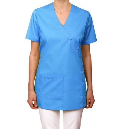 Bluza zapinana na napy, jasny niebieski JC2005