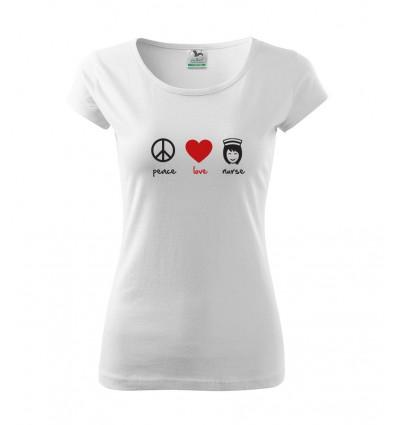 Koszulka Peace Love Nurse
