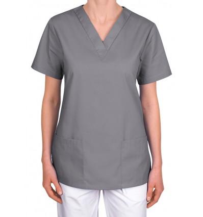Bluza medyczna, taliowana, szara ciemna JC101