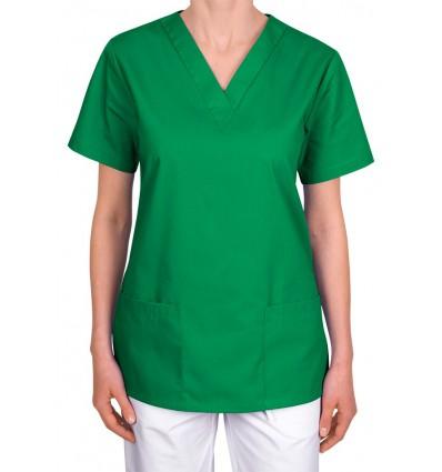 Bluza medyczna, taliowana, zielona JC101